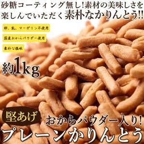 おからパウダー入り!!【お徳用】堅あげプレーンかりんとう1kg(250g×4袋)