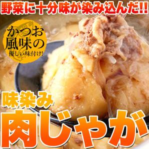 【ゆうパケット出荷】ゴロっとじゃがいも♪かつお風味の優しい味付け!!味染み肉じゃが600g(200g×3袋)