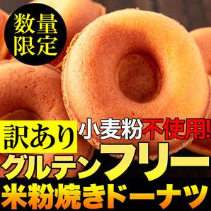 【限定店舗様のみお取り扱い可】 小麦粉不使用!!【訳あり】グルテンフリー米粉焼きドーナツ1個