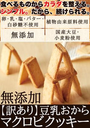 無添加【訳あり】豆乳おからマクロビクッキー250g